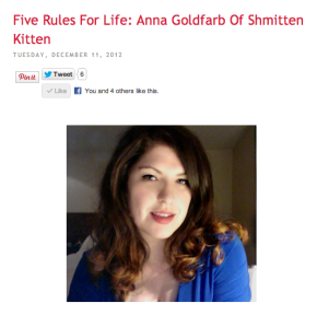 I Gave My Five Rules For Life To The Beauty Blogging Junkie!