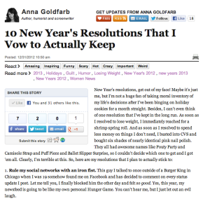 Here are 10 New Year's resolutions that I'll actually keep